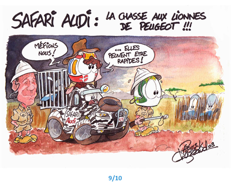 illustrations safari audi 24h du Mans Pierrick Chazeaud