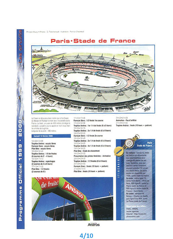 illustration presse trophée andros stade de france Pierrick Chazeaud