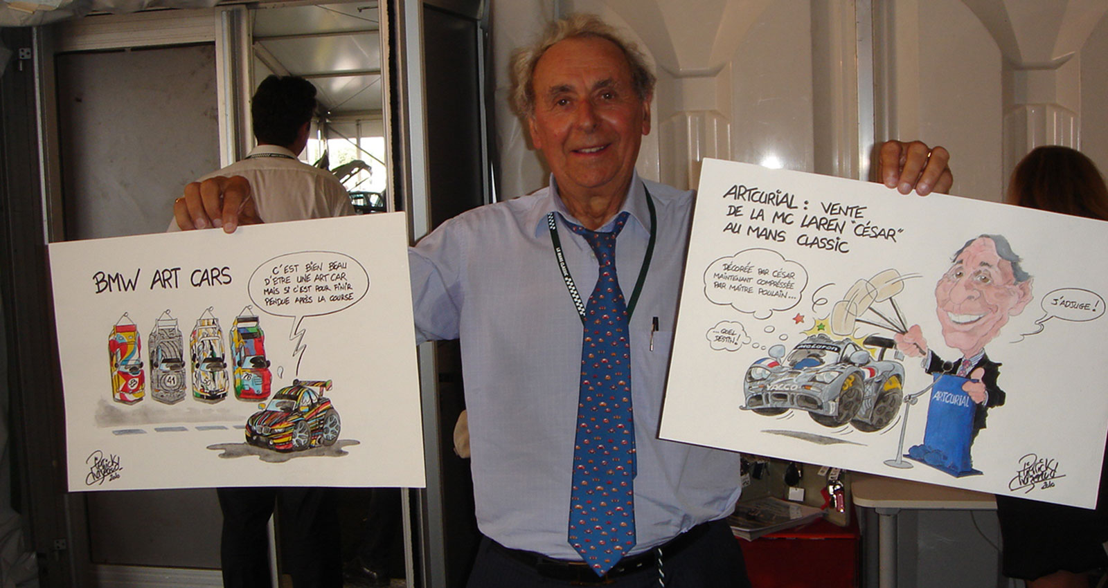 caricature course automobile pierrick chazeaud